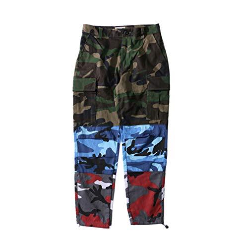 Camo Multy Allentato Stile Patchwork Sportivi Verde Pantaloni Nuovo Uomo Donna Cheyuan blu rosso Pantaloni Cargo Pantaloni Pantaloni Pantaloni qnZOWvW6