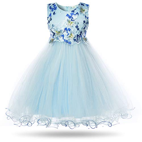 - CIELARKO Girls Dress Flower Kids Butterfly Wedding Party Dresses,4-5 Years