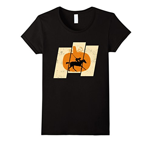 Ghost Rider Costume Female (Womens Pumpkin Horse Riding Sports Lovers Halloween T-Shirt Small Black)