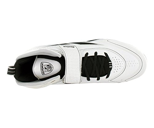 Reebok Pro Thorpe III Hex Mens Football Shoes White/Black x8SKle