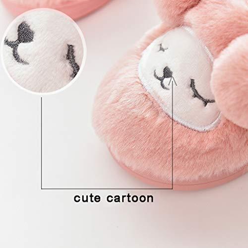 Hiver Animaux Bazhahei Enfant Cartoon Pantoufles Unisex Fille Intérieures Chien Rose Bébé Maison Chaussures Slippers Garçon Chaussons B Chaud zEwZd0zq
