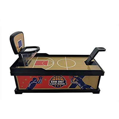 Fox Valley Traders Playmaker Toys Bank Shot Coin Shooting Basketball Coin Bank: Toys & Games