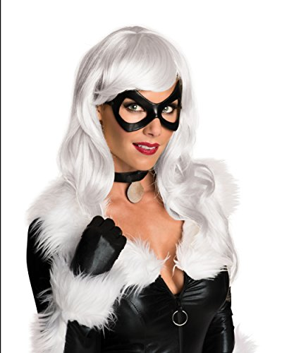 Secret Wishes Women's Marvel Universe Black Cat Wig, Platinum Blonde, One (Black Cat Costume Marvel)