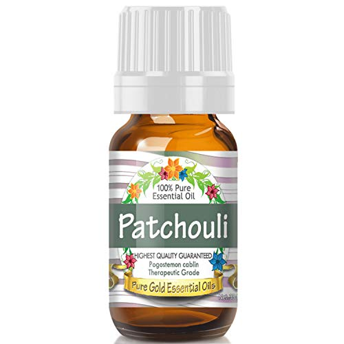Patchouli Essential Oil (100% Pure, Natural, UNDILUTED) 10ml - Best Therapeutic Grade - Perfect for Your Aromatherapy Diffuser, Relaxation, More! (Pachuli Oil)