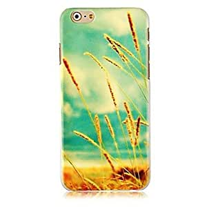 QJM Ear of Wheat Pattern Hard Back Case for iPhone 6