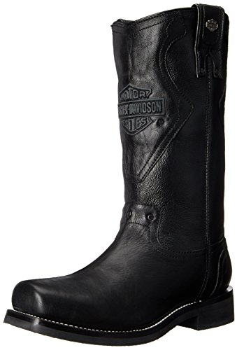 Harley-Davidson Men's Gaskin Motorcycle Western Riding Boot, Black, 7.5 M US - Harley Davidson Western Boots Men