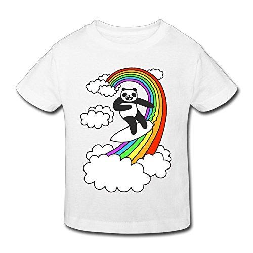 (KissKid Panda Surf Rainbow Infants Short Sleeve Tshirt 3 Toddler)