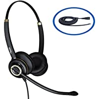 Discover D712 Binaural Headset For Polycom CX300, CX500, CX600, IP301, IP335, IP430, IP450, IP501, IP550, IP560, IP560, IP601, IP650 IP670, VVX1500, VVX101, VVX201, VVX300, VVX400, VVX410 Telephones