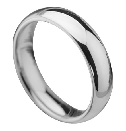 Queenwish 5mm White Tungsten Carbide Wedding Bands High Polished Classic Wedding Engagement Ring