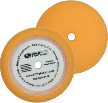 """8/"""" Orange Waffle Foam Buffing Grip Pad Coarse Cutting Buffing Polish Detail Car"""