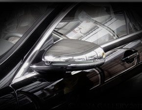 Jaguar XJ XJR Chrome Mirror Cover Finisher Set 2010 - 2015 by Mina Gallery