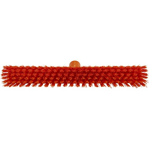 Vikan 31747 Coarse/Fine Sweep Floor Broom Head, Polypropylene Block, 16-1/2'' Polyester Bristle, Orange by Vikan (Image #2)