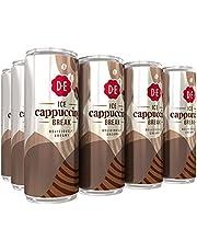 Douwe Egberts IJskoffie Ice Cappuccino, Koffie met Melk en een Vleugje Cacao (12 Blikjes, 100% Arabica Koffie, Ice Coffee), 12 x 250 Milliliter