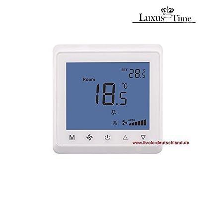 termostato ambiental Enlucido inferior para Calefacción Aire acondicionado Calefactor T905