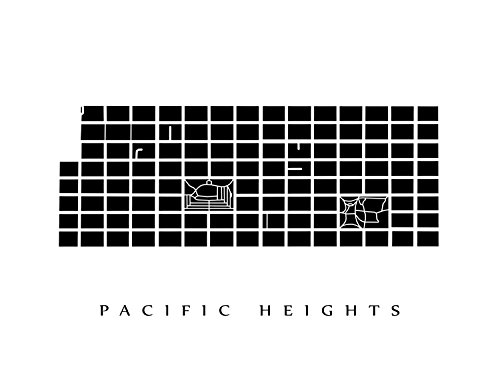 Pacific Heights San Francisco Map.Amazon Com Pacific Heights Neighborhood Map San Francisco