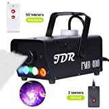 JDR Fog Machine with Controllable lights, DJ LED Smoke Machine(Red,Green,Blue) with Wireless