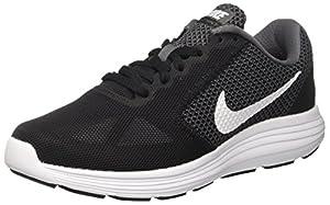 NIKE Women's Revolution 3 Running Shoe, Dark Grey/White/Black, 11 W US