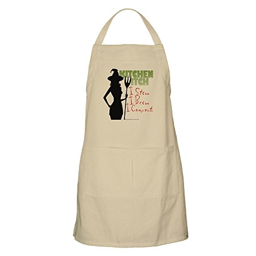 CafePress Kitchen Witch.1 Apron Kitchen Apron with Pockets, Grilling Apron, Baking Apron