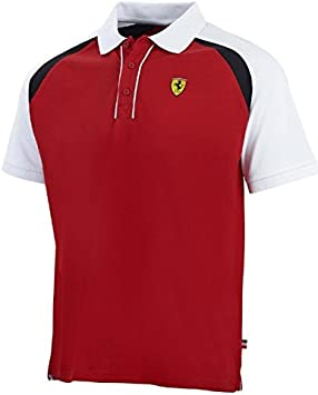 Polo Scuderia Ferrari F1 de color rojo, hombre, rojo: Amazon.es ...