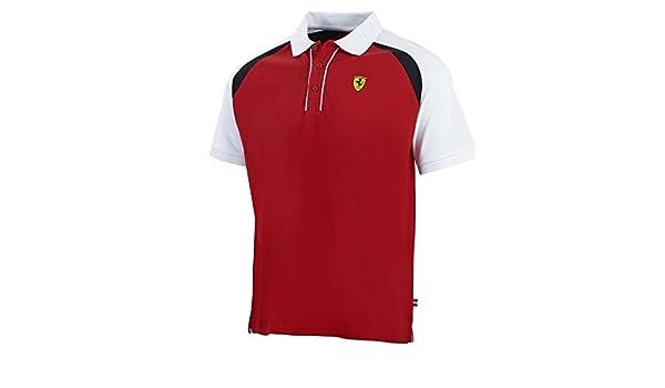 Polo Scuderia Ferrari F1 de color rojo, hombre, rojo: Amazon.es ...