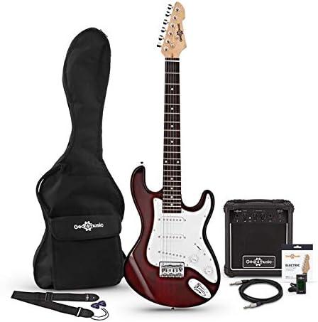 Set de Guitarra Electrica LA 3/4 + Amplificador de 10 W Wine Red ...
