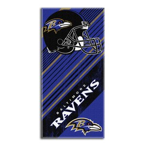 Northwest Baltimore Ravens NFL Fiber Reactive Beach Towel Diagonal Series