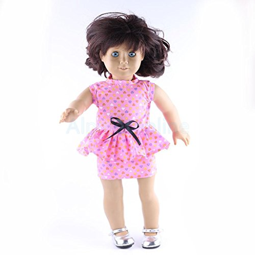 Trendy Pink Party Dress Outfit for 18inch American Girl Journey Girl Dolls by alpinetopline