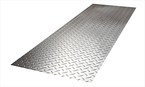 Alligator Board ALGBRD12X48ALUM Aluminum Diamondplate Kickboard - Pack of 2