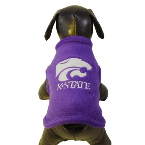 NCAA Kansas State Wildcats Polar Fleece Dog Sweatshirt, X-Small
