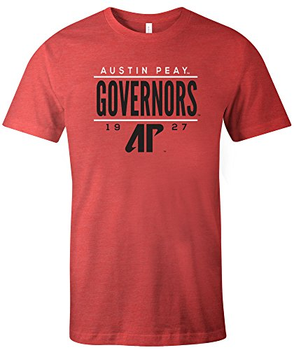 NCAA Austin Peay Governors Tradition Short Sleeve Tri-Blend T-Shirt, Red,Red ()