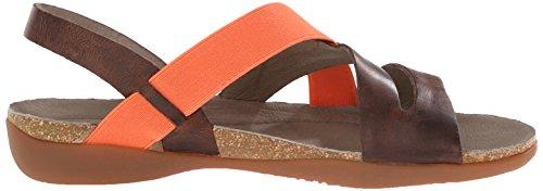 Keen - Zapatos de cordones de cuero repujado para mujer Marrón Tortoise Shell Marrón - Tortoise Shell
