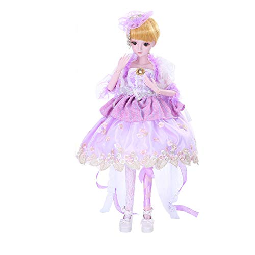MEMIND Bjd Custom Made Doll Purple Dress Full