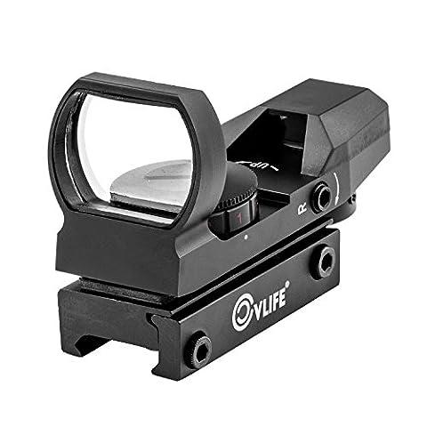 CVLIFE 1X22X33 Red Green Dot Gun Sight Scope Reflex Sight with 20mm Rail (Green Dot Laser For Gun)