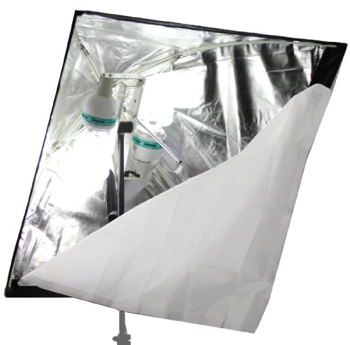 ALZO 200 Economy Softbox Video Light 3200K - Very Bright Very Light weight softbox - Perfect for inverviews and Green Screen by ALZO Digital