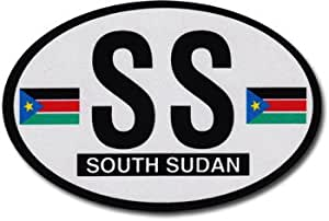 South Sudan, Republic of - Oval Decal