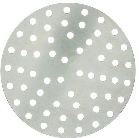 Round Pizza Screens - Winco APZP-8P, 8-Inch Aluminum Perforated Pizza Disk with 57 Holes, Pizza Screen