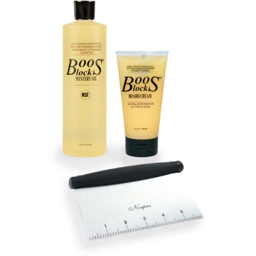 John Boos 4 Piece Care and Maintenance Kit with Scraper