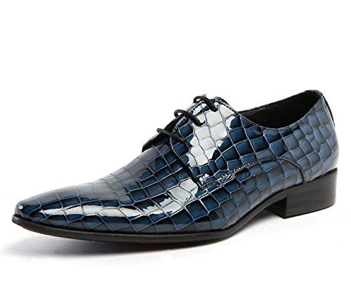 Modello Da Blu Lavoro blue eur41uk8 Stringate Nero 45 Per Pietra Punta Sposa Oxford In Formale Uomo Scarpe Taglia 38 Pelle Abito ndHZtd