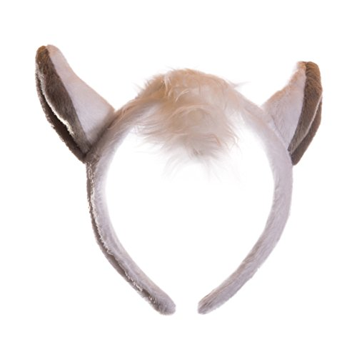 [Life-like White Horse Ears Headband Accessory for Horse Costume Cosplay, Pretend Animal Play or Zoo Party] (Kids Horse Costumes)