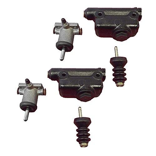A51976 L25419 (2) Brake Master & (2) Slave Cylinder Kit for Case Backhoe 480C 580C - Case Backhoe Parts
