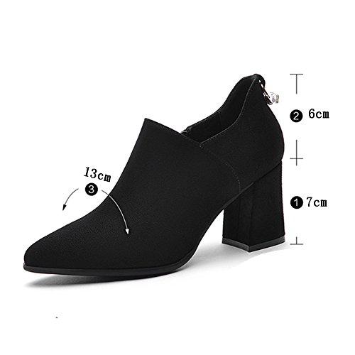 Frau Größen Farben 6 UK4 L Heels 230mm LIANGJUN EU36 Farbe Schuhe 5 2 Black Stiefeletten Verfügbar High YAqzwX5x