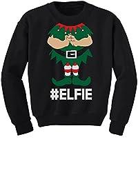 TeeStars - Elf Suit Funny Elfie Christmas Toddler/Kids Sweatshirts