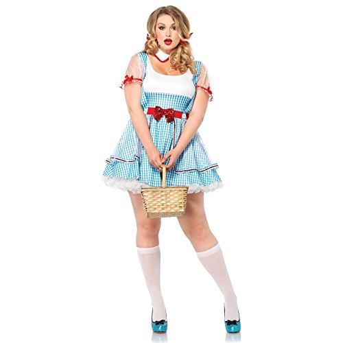 Leg Avenue Women's Plus-Size 2 Piece Oz Beauty Costume, Blue, 3X/4X (Halloween Costumes For Plus Size)