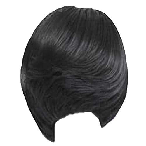 Wig,SUPPION Fashion Women's Natural Full Wig Short Wig Full Cover Bang Wig Styling Cool Wig - Cosplay/Party/Costume/Carnival/Masquerade (Black)
