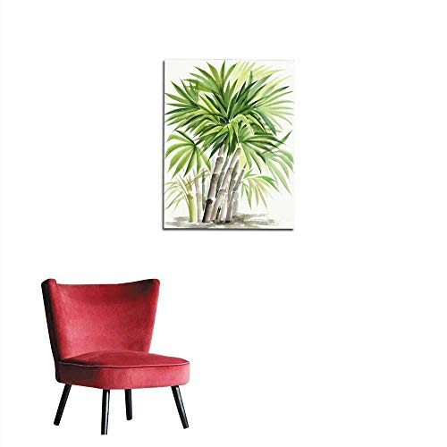 Picture Palm Bamboo (Unprecall Wall Picture Decoration Watercolor Painting of Palm Bamboo Mural 24
