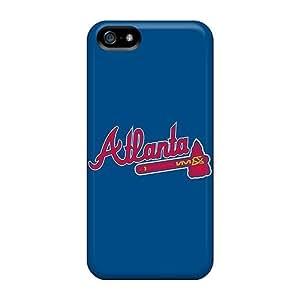 Apple Iphone 5/5s Protective Hard Cell-phone Case Custom Lifelike Atlanta Braves Series [tTX2550HMui]