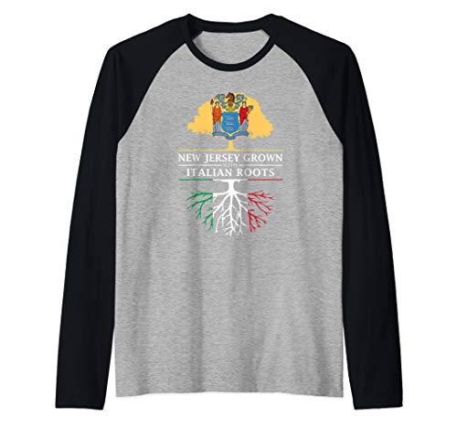 New Jersey Grown with Italian Roots - Italy Raglan Baseball Tee