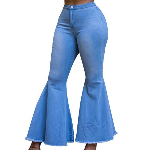 Flared Jeans Cut Pants - EVEDESIGN Women's High Waist Bootcut Flared Jeans Bell Bottom Flared Jeans Plus Size