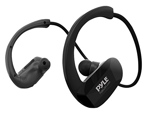 Pyle Upgraded Waterproof MP3 Player - V2 Flextreme Sports Wearable Headset Music Player 8GB Underwater Swimming Jogging Gym Earphones Rechargeable Flexible Headphones USB Connection9 - PSWP29BTBK
