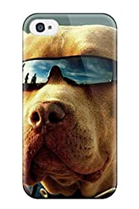 Iphone 4/4s Case, Premium Protective Case With Awesome Look - Dog With Sunglasses